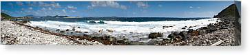 Drunk Bay Panorama St. John Usvi Canvas Print