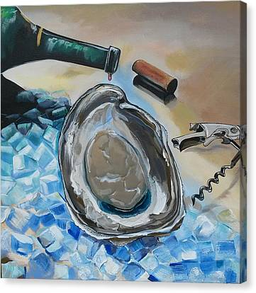 Drunken Oyster Canvas Print by John  Duplantis
