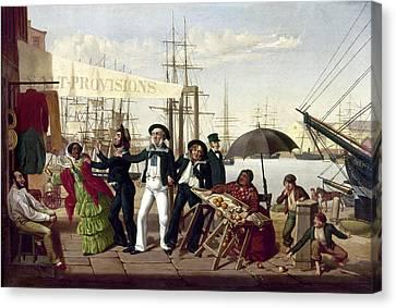 After A Long Life Canvas Print - Drunken Sailors, 1857 by Granger