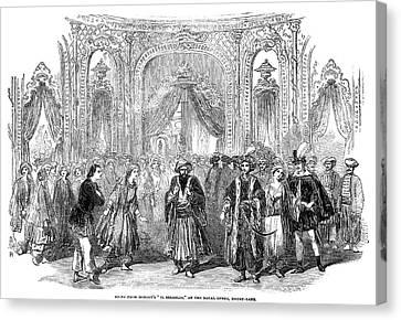 Drury Lane Theatre, 1854 Canvas Print by Granger
