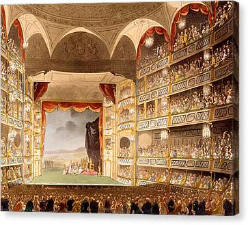 Drury Lane Theatre, Illustration Canvas Print