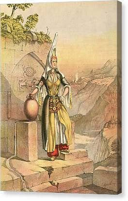 Druse Girl. Druze Or Durzi, A Middle Eastern Ghulat Canvas Print by Artokoloro