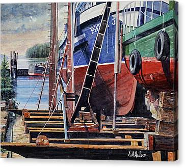 Dry Dock Canvas Print by Bill Hudson