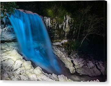 Dry Falls At Night Canvas Print