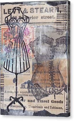 Ephemera Canvas Print - Dry Goods by Patricia Wiggin - Wiggelhevin