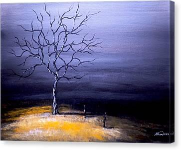 Dry Winter Canvas Print by Alban Dizdari