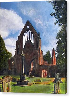 A Space To Cherish Dryburgh Abbey  Canvas Print by Richard James Digance
