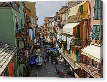 Italian Canvas Print - Dsc02547 Manarola Italy by Greg Kluempers