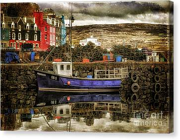 Port Town Canvas Print - Tobermory Isle Of Mull by Lois Bryan