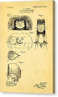 Quilter Canvas Print - Du Ket Halloween Helmet Patent Art 1903 by Ian Monk