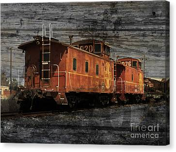 Dual Cabooses Canvas Print by Robert Ball