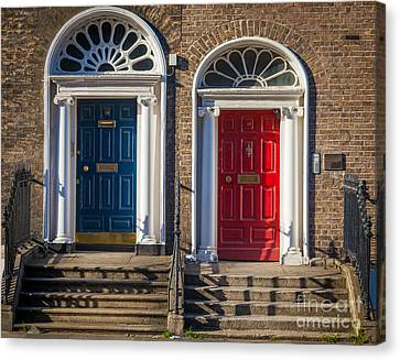 Dual Doors Canvas Print by Inge Johnsson