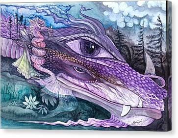 Dual Dragons Canvas Print