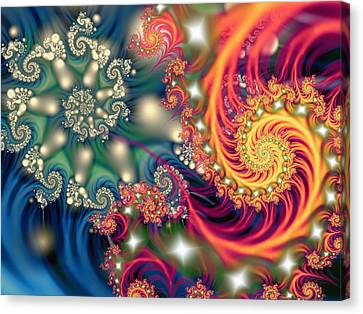 Opposing Forces Canvas Print - Duality by Mary Almond