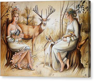 Duality Of The Matriarch Canvas Print by Jacque Hudson