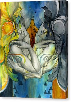 Figurative Canvas Print - Duality by Patricia Ariel