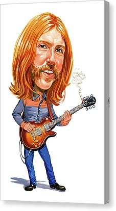 Rock Music Canvas Print - Duane Allman by Art