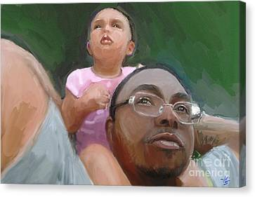 Canvas Print featuring the painting Duane by Vannetta Ferguson