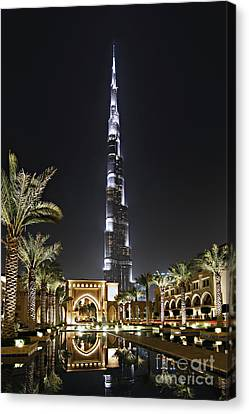 Dubai At Night Canvas Print by Lars Ruecker