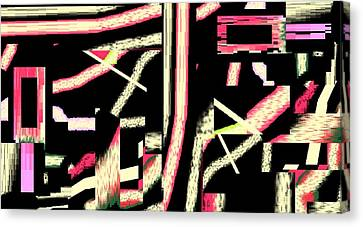 Canvas Print featuring the digital art Dubai By Night by Cletis Stump