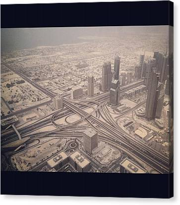 Dubai Citylife Canvas Print by Maeve O Connell