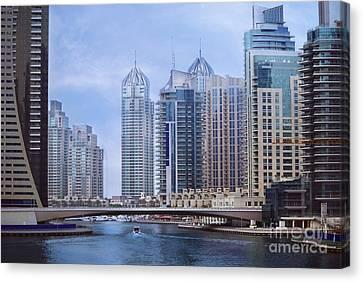 River Scenes Canvas Print - Dubai Marina by Jelena Jovanovic