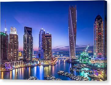 Dubai Marina Canvas Print by Vinaya Mohan