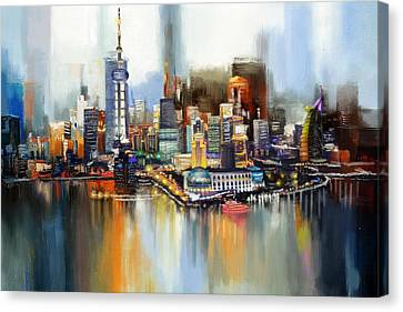 Dubai Skyline  Canvas Print by Corporate Art Task Force