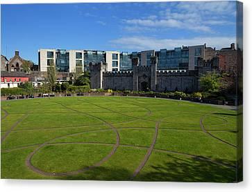 Dublin Building Colors Canvas Print - Dubh Linn Gardens Behoind Dublin by Panoramic Images