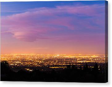 Dublin City At Blue Hour Canvas Print