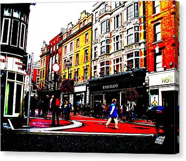 Canvas Print featuring the photograph Dublin City Vibe by Charlie and Norma Brock