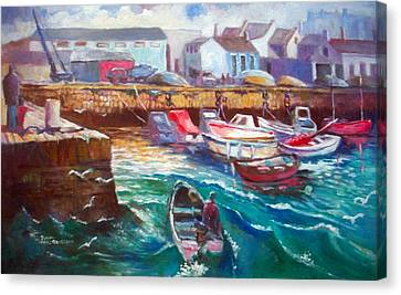 Dublin Ireland Bullock Harbour Canvas Print by Paul Weerasekera