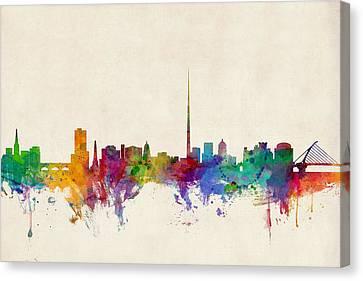 Ireland Canvas Print - Dublin Ireland Skyline by Michael Tompsett