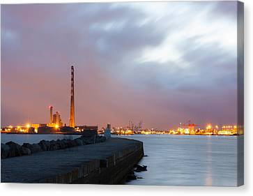 Dublin Port At Night Canvas Print by Semmick Photo
