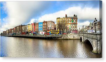 Dublin River Liffey Panorama Canvas Print