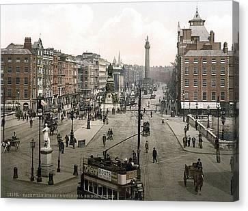 Dublin Street Scene, C1895 Canvas Print