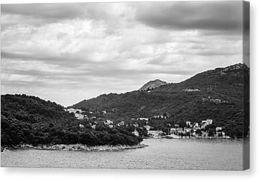 Dubrovnik Landscape Bw Canvas Print by Matti Ollikainen