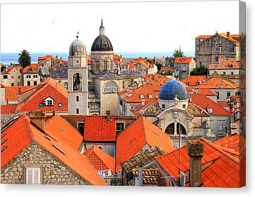 Dubrovnik Rooftops Canvas Print