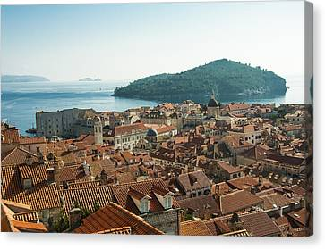 Dubrovnik View To The Sea Canvas Print