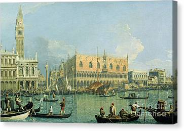 St. Mark Canvas Print - Ducal Palace   Venice by Canaletto