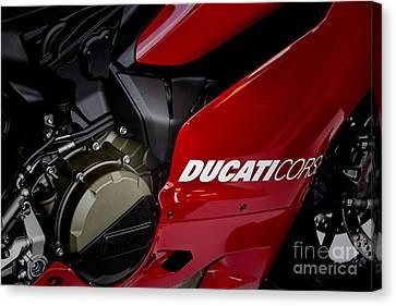 Ducati-unplugged V9 Canvas Print by Douglas Barnard