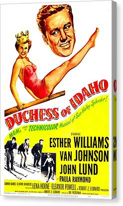 1950s Poster Art Canvas Print - Duchess Of Idaho, Us Poster, Top by Everett