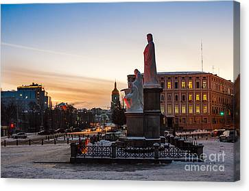 Duchess Olga And St Andrew And Cyril And Methodius Canvas Print by Eugene Shutoff