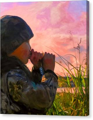 Duck Call Canvas Print by Michael Pickett