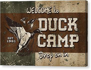 Duck Camp Canvas Print by JQ Licensing