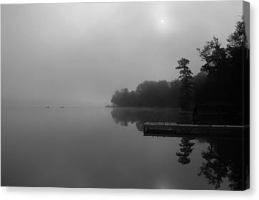 Duck Harbor Early Morning Fog Canvas Print by Patsy Zedar