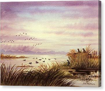 Duck Hunting Companions Canvas Print