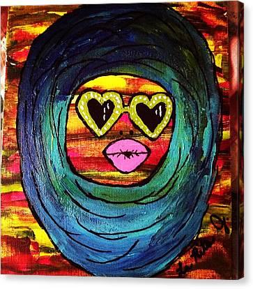 Duck Lips Canvas Print by LaRita Dixon