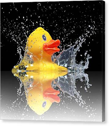 Yellow Duck Canvas Print by Manfred Lutzius