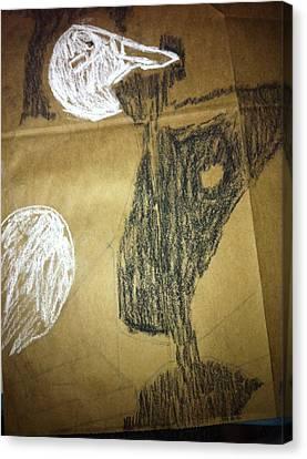 Duck On Brown Canvas Print by Khoa Luu